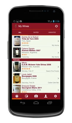 Vivino Android and iPhone App